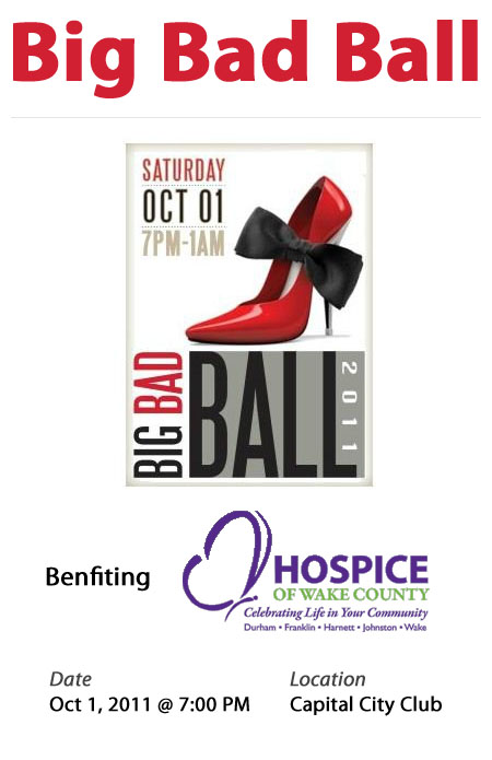 Big Bad Ball - 10/1/11 - 7pm at The Capital City Club Raleigh, NC