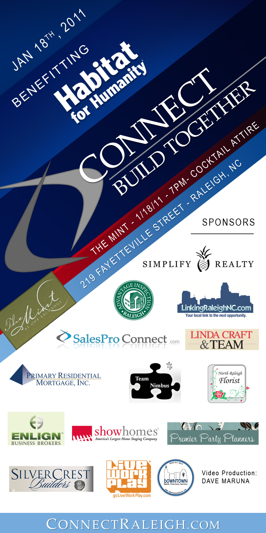 Connect - Build Together - 1/18/11 - 7pm at The Mint in Downtown Raleigh, NC