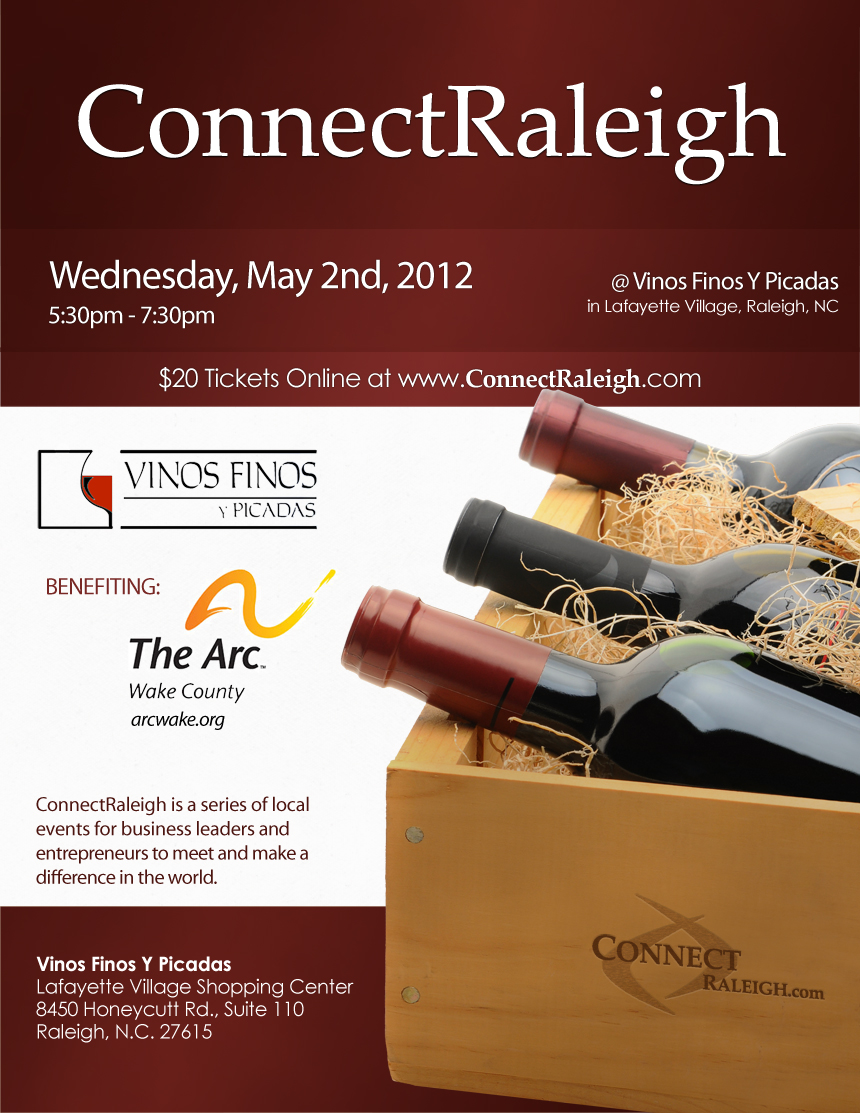CONNECT Raleigh - 5/2/12 - 7:30pm at Vinos Finos Y Picadas in Raleigh, NC