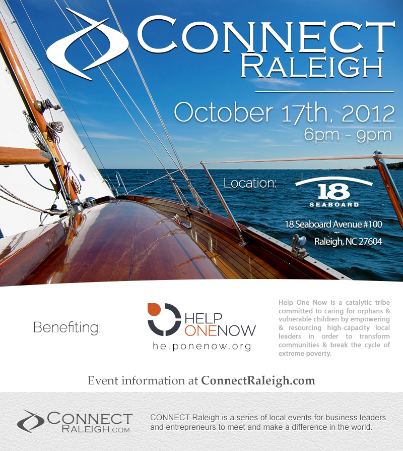 CONNECT Raleigh - 10/17/12 - 6pm at 18 Seaboard, Raleigh, NC