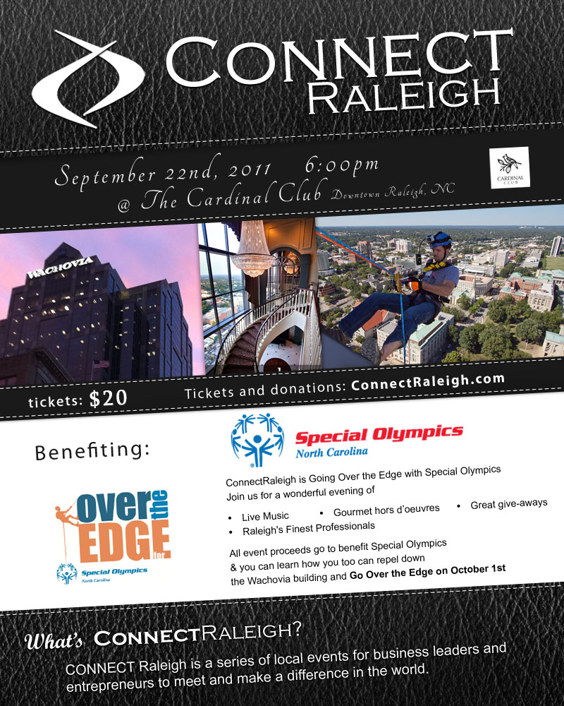 CONNECT Raleigh - The Edge - 9/22/11 - 6pm at The Cardinal Club Downtown Raleigh, NC